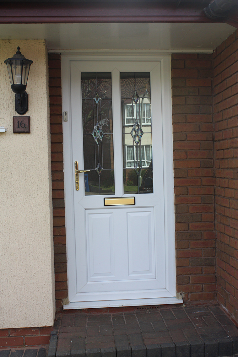 Pvc u front and back doors from banbury windows for Us window and door