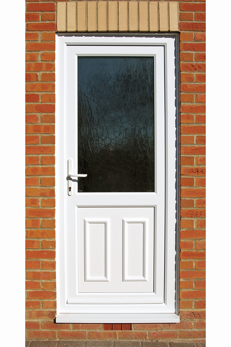 Pvc u front and back doors from banbury windows for Exterior back doors with glass
